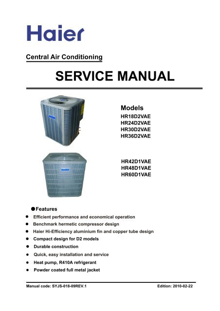 4 ton 13 seer service manual - appliance 911 forum