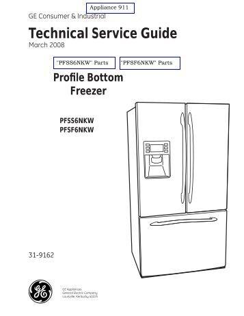 Ge Refrigerator repair manual Wx10x110