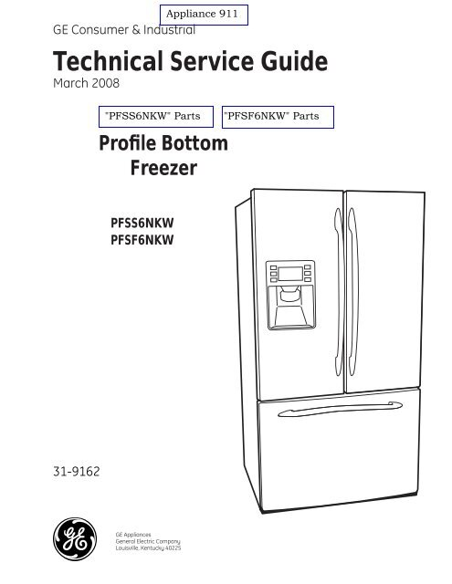 GE PFSS6NKW PFSF6NKW Refrigerator Service Manual | Ge Refrigerator Schematic Electrical |  | Yumpu