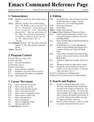 The Woodnotes Emacs Cheat Sheet for Writers     - therandymon com