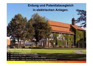 Erdung und Potentialausgleich in elektrischen Anlagen.