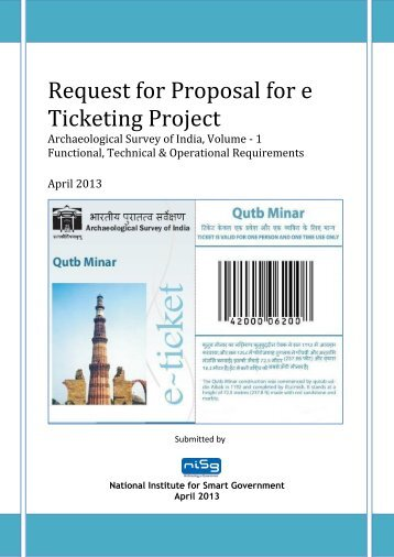 Request for Proposal for e Ticketing Project - Archaeological Survey ...