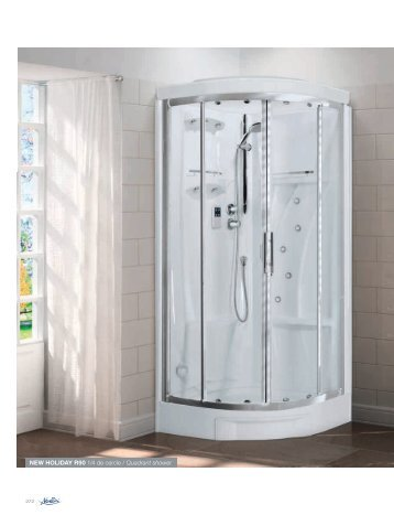 NEW HOLIDAY R90 1/4 de cercle / Quadrant shower - Novellini
