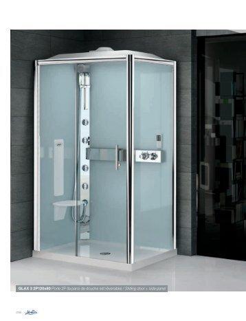 GLAX 3 2P120x80 Porte 2P (la paroi de douche est ... - Novellini