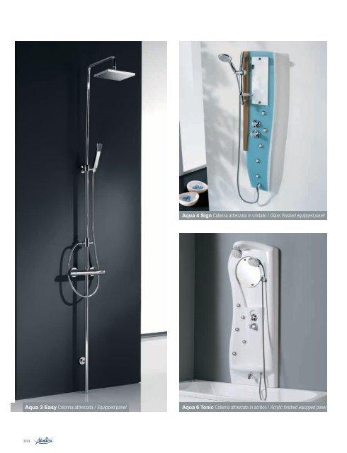 Aqua 3 Easy Colonna attrezzata / Equipped panel Aqua 4 Sign ...