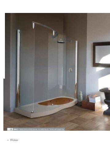 ref. 2 Walk 2 - Spazio doccia entrata laterale, con piatto ... - Novellini
