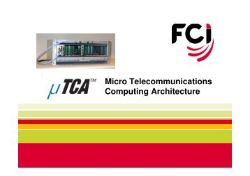 Micro Telecommunications Computing Architecture - FCI
