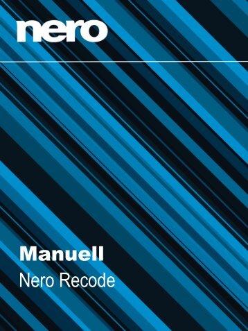 Manuell Nero Recode - ftp.nero.com