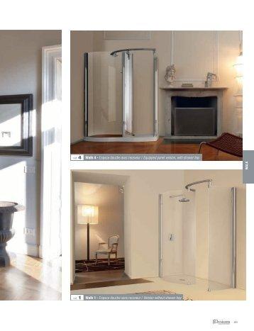 ref. 4 Walk 4 - Espace douche avec receveur / Equipped ... - Novellini