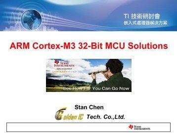 ARM Cortex-M3 32-Bit MCU Solutions