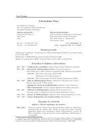 Curriculum Vitae - EPFL