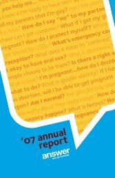 '07 annual report - Answer