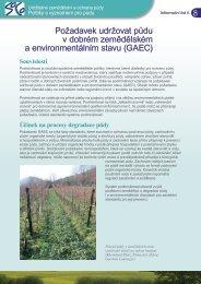 Požadavek udržovat půdu v dobrém ... - agrilife - Europa