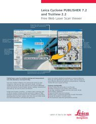 Leica Cyclone PUBLISHER 7.2 and Truview 2.2 Free Web Laser Scan