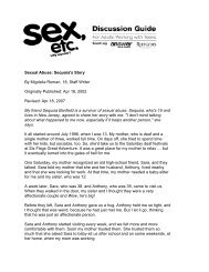 Sexual Abuse: Sequoia's Story By Migdalia Roman, 18 ... - Answer