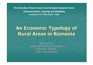 An Economic Typology of Rural Areas in Romania - agrilife