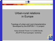 Urban-Rural Relationships in Europe - agrilife
