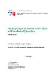 Feasibility Study on the Valuation of Public Goods ... - agrilife - Europa