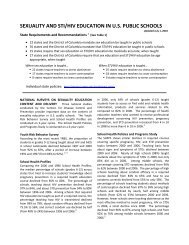 sexuality and sti/hiv education in us public schools - Answer