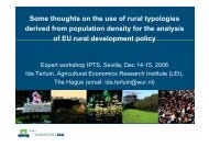 Some thoughts on the use of rural typologies derived from ... - agrilife
