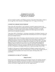 Oversight Plan of the Committee on the Budget - House Budget ...