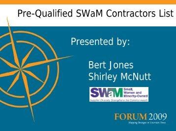 Pre-Qualified SWaM Contractors List