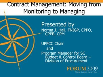 Contract Management: Moving from Monitoring to Managing