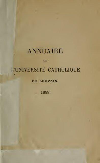 Annuaire. Jaarboek