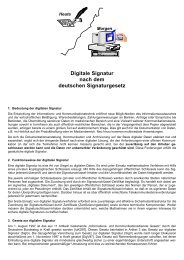 Digitale Signatur nach dem deutschen Signaturgesetz - Ftp Sunet