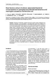 Host factors versus virulence-associated bacterial characteristics in ...