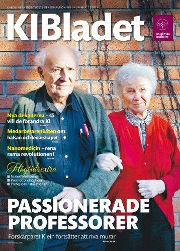 Läs KI Bladet nr 7 (Pdf-fil, 6 Mb) - Karolinska Institutet