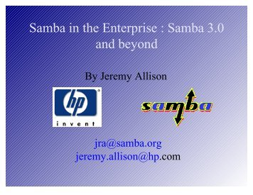 Samba in the Enterprise : Samba 3.0 and beyond - FTP site. - Samba