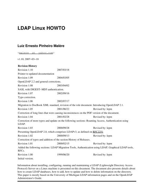 Linux Documentation Pdf
