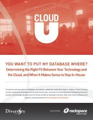 You Want to Put MY Database Where? - The Diversity Blog - SaaS ...