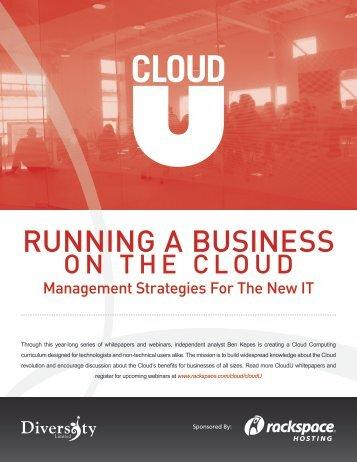 Running a Business on the Cloud - Rackspace