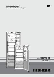 Oversigt over apparatet - Liebherr