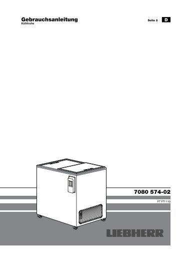 Gebrauchsanleitung 7080 574-02 - Liebherr