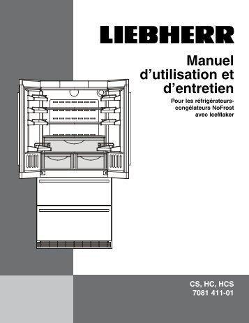 Manuel d'utilisation et d'entretien - Liebherr