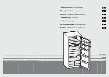 7081 898-01 TR Gebruiksaanwijzing voor koelkast - Liebherr