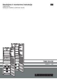 Naudojimo ir montavimo instrukcija 7082 554-00 - Liebherr