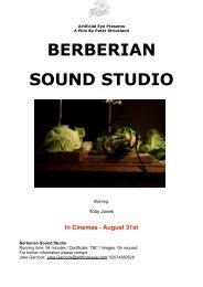 Berberian Sound Studio - Press Notes - FDb.cz