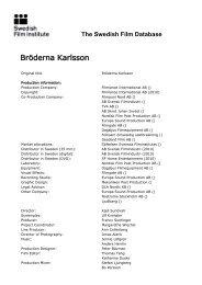 The Swedish Film Database - Bröderna Karlsson - FDb.cz