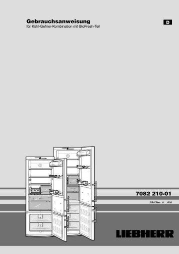 7082 210-01 Gebrauchsanweisung - Liebherr