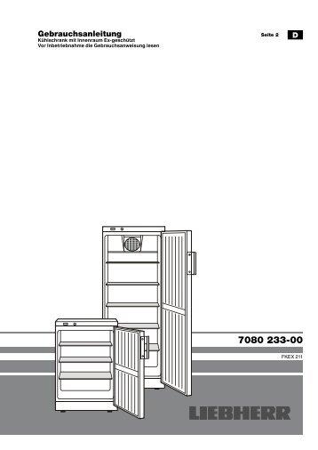 Gebrauchsanleitung - Liebherr