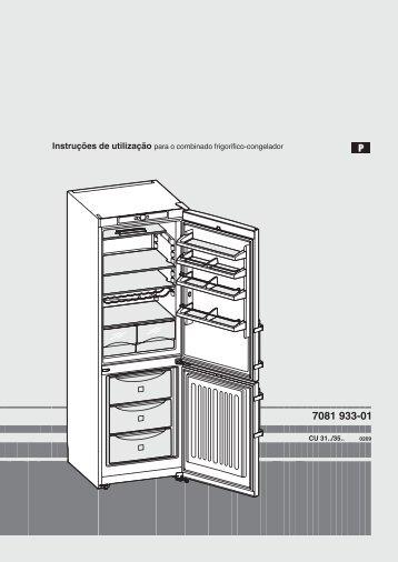 Instruções de utilização para o combinado frigorífico ... - Liebherr