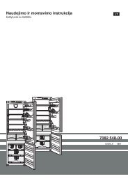 Naudojimo ir montavimo instrukcija 7082 548-00 - Liebherr