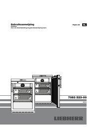Gebruiksaanwijzing - Liebherr