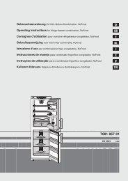 Gebrauchsanweisung für Kühl-Gefrier-Kombination ... - Liebherr