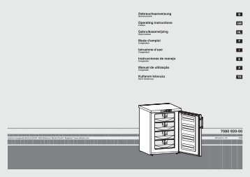 Mode d'emploi Gebruiksaanwijzing Operating instructions ... - Liebherr