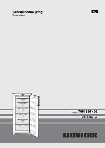 Gebruiksaanwijzing 140113 7081986 - 02 - Liebherr